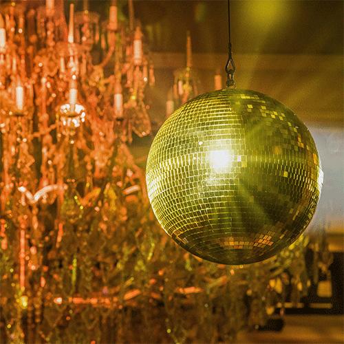 Golden Disco Ball, Gold Party