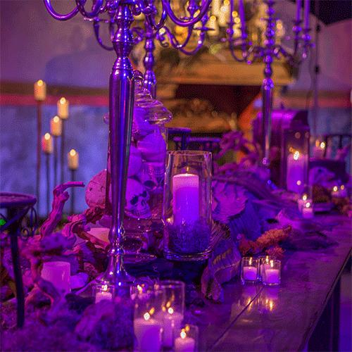Halloween Bayou themed Party table setting