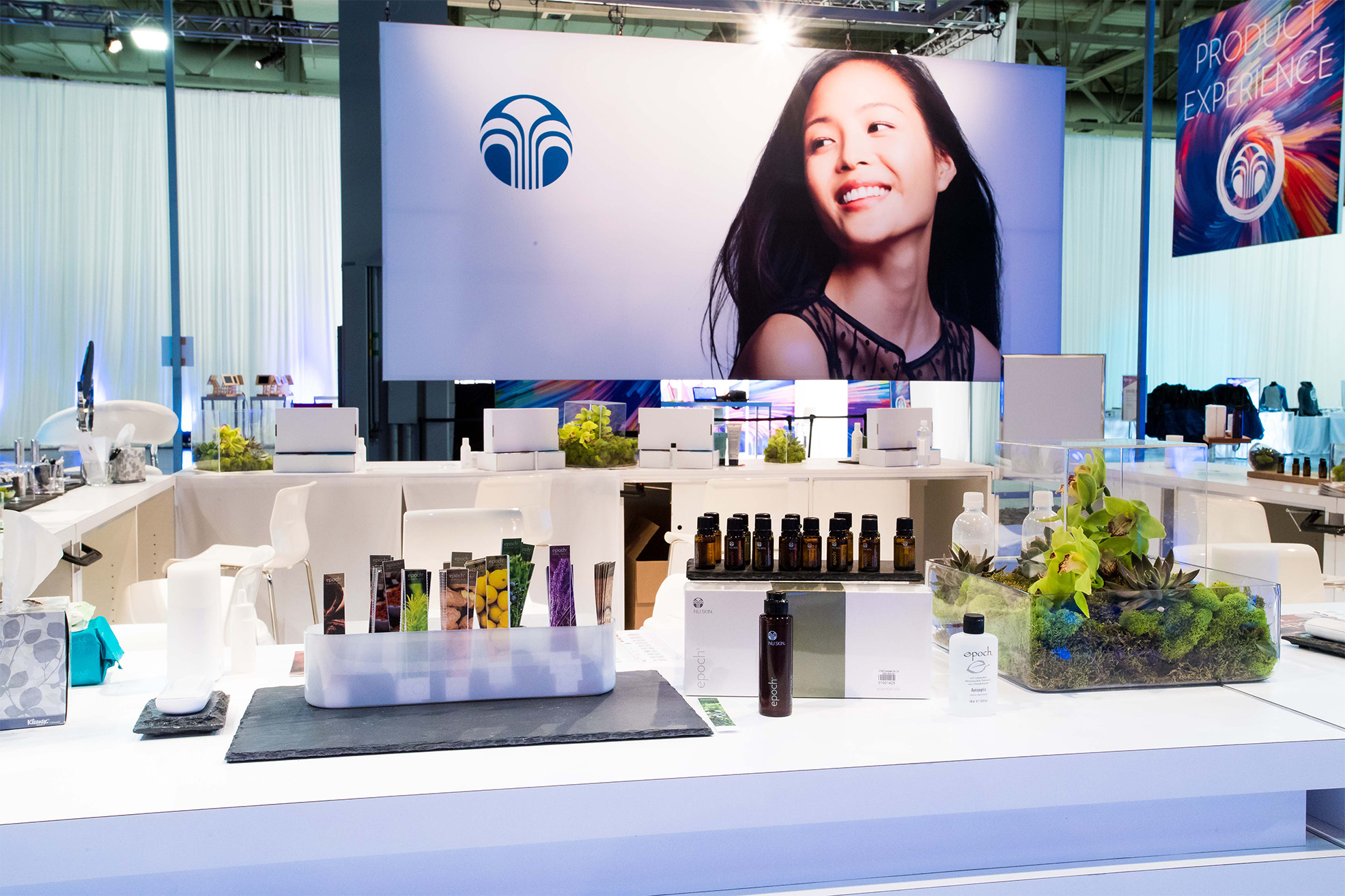 NuSkin 2016 Product Showcase Product Samples and Spa Area