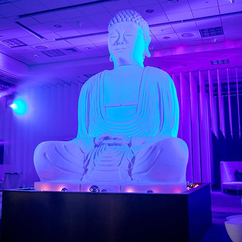 Domopalooza Zen Lounge Buddha at Night